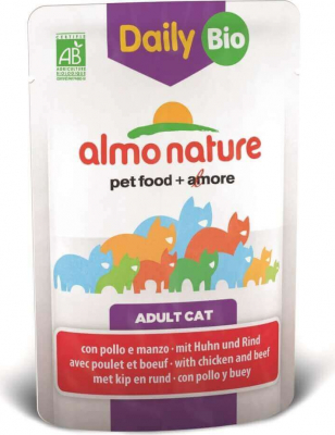 Daily Menu Bio pour chat ALMO NATURE 70g