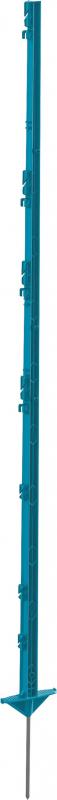 Piquet plastique Classic 156 cm, double pieds, bleu pétrole ou rose