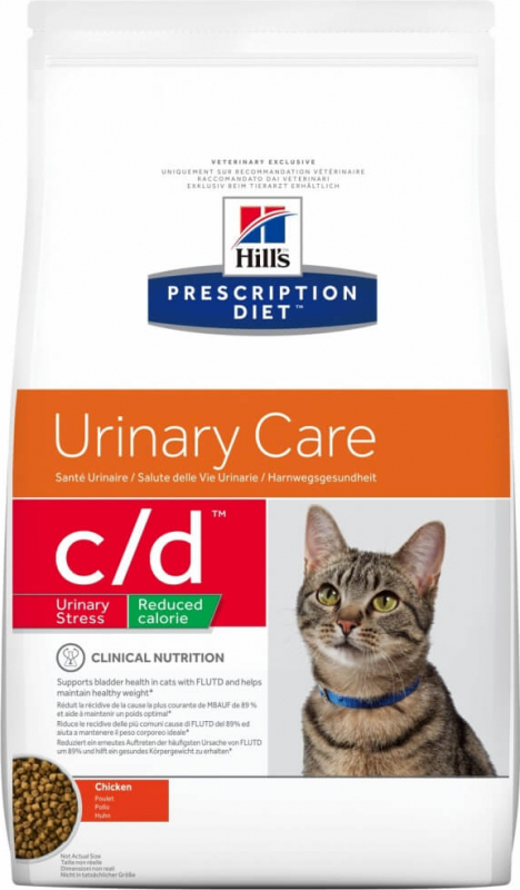 HILL'S Prescription Diet C/D Urinary Stress Reduced Calorie pour chat