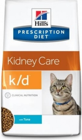 HILL'S Prescription Diet K/D Kidney Care pour chat adulte - poulet ou thon