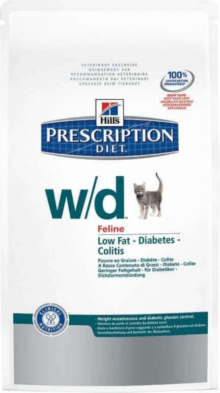 HILL'S Prescription Diet W/D Digestive & Weight Management pour chat adulte