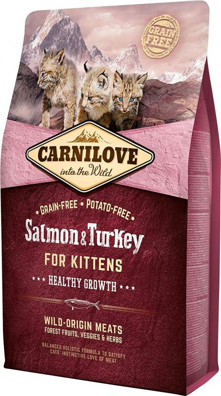 Carnilove Kitten saumon et dinde pour chaton