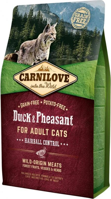 Carnilove Adult Cat au canard et faisan Spécial boules de poils