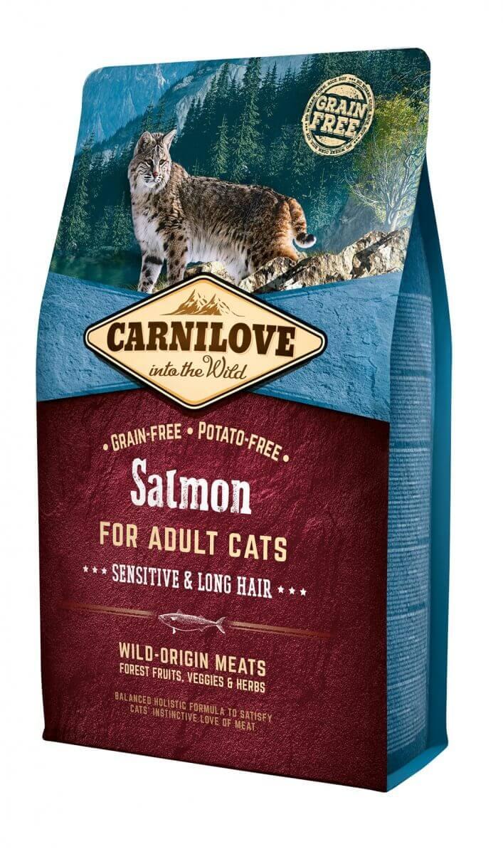 Carnilove Adult Cat au saumon Sensitive & Long hair_0