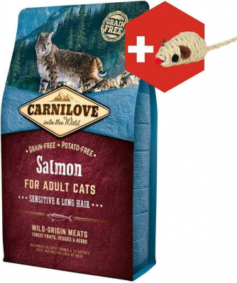 Carnilove Adult Cat mit Lachs Sensitive & Long hair