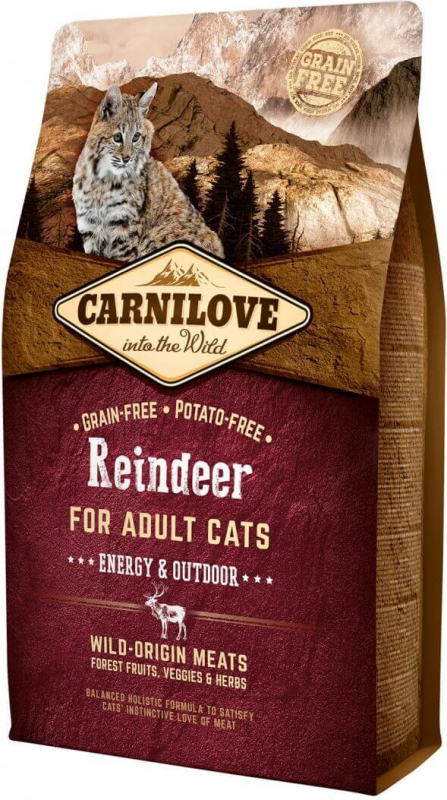Carnilove Adult Cat Reindeer au renne Energy & Outdoor