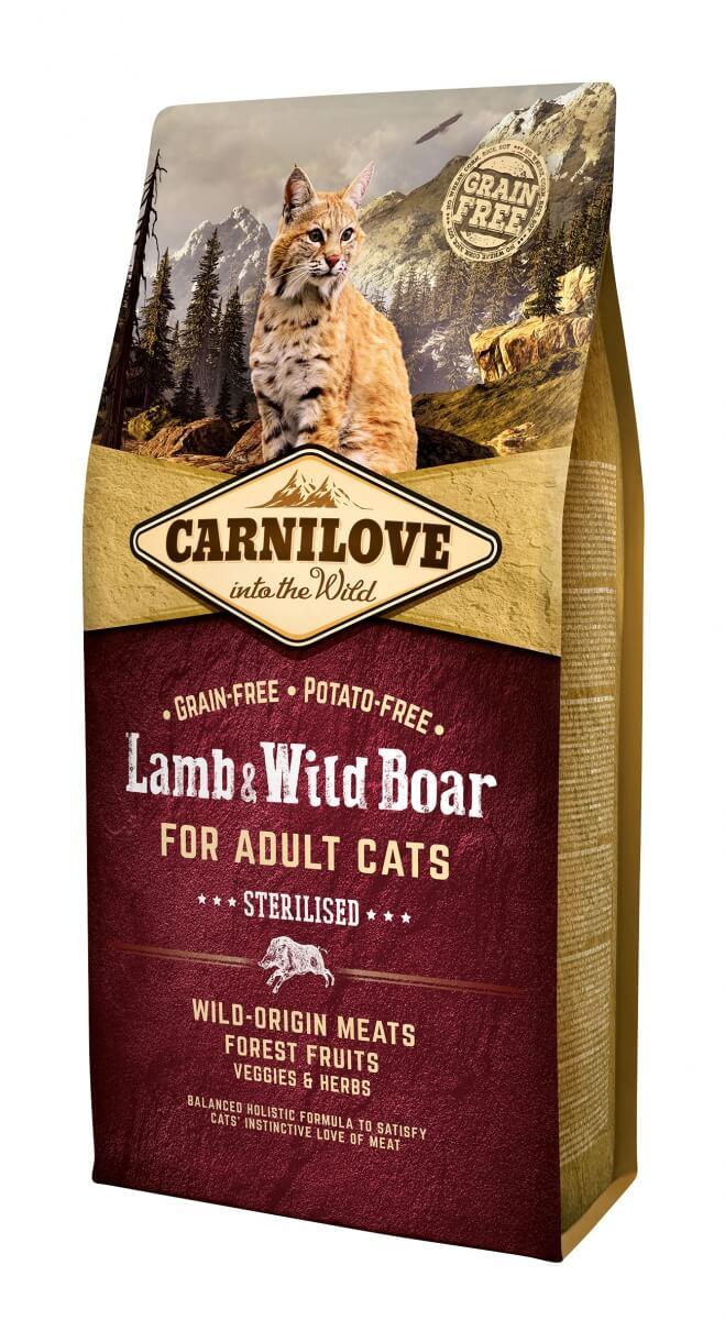 Carnilove Adult Cat Agneau et Sanglier pour chats stérilisés_1