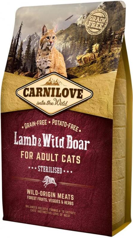 Carnilove Adult Cat Agneau et Sanglier pour chats stérilisés