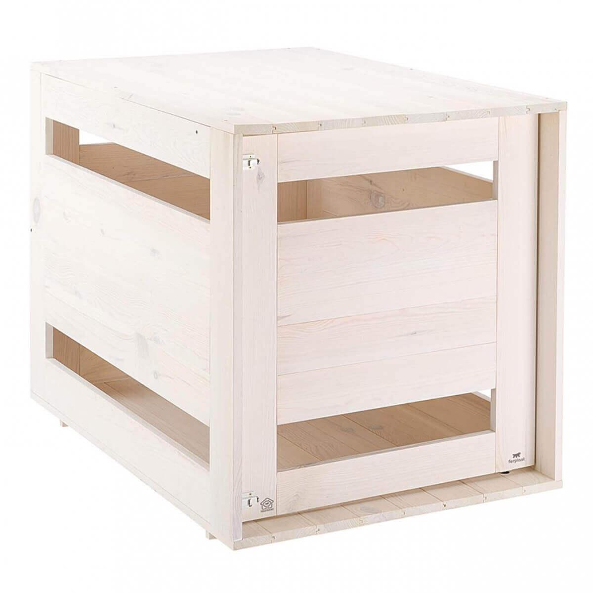 niche d 39 int rieur dog home blanc pour chiens niche. Black Bedroom Furniture Sets. Home Design Ideas