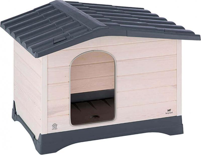 Niche en bois et toit plastique Dog Lodge pour chiens