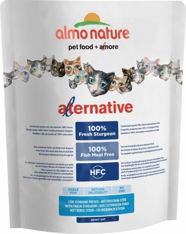 ALMO NATURE Alternative Dry ESTURGEON & RIZ pour Chat adulte