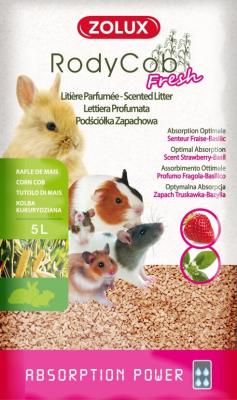 Litière Rody'Cob Fresh parfumée fraise-basilic