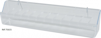 Mangeoire avec grille en plastique transparent