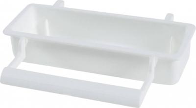 Mangeoire blanche rectangulaire avec perchoir