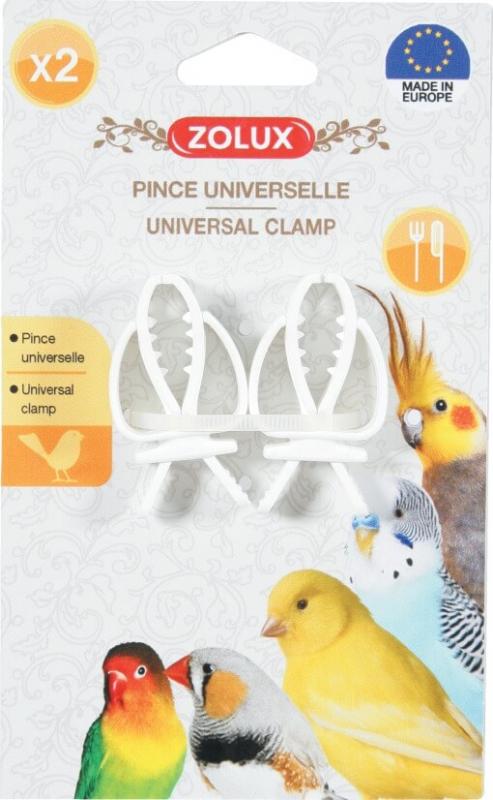Pince blanche universelle pour oiseaux (x2)