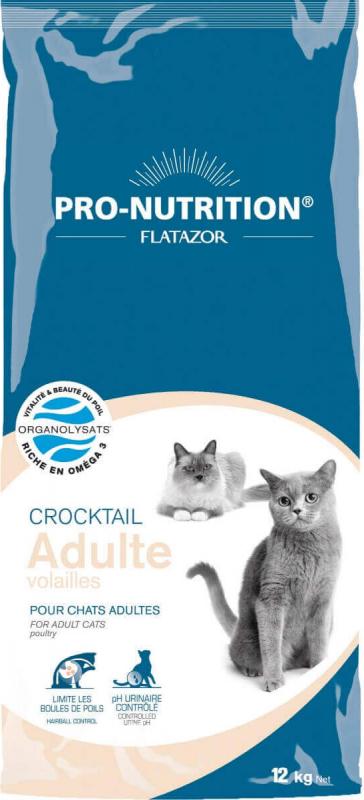 PRO-NUTRITION Flatazor CROCKTAIL Adult à la Dinde pour Chat Adulte