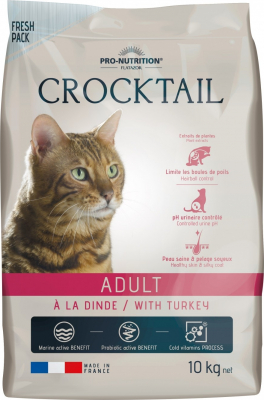 PRO-NUTRITION Flatazor CROCKTAIL Adult à la Dinde pour Chat Adulte