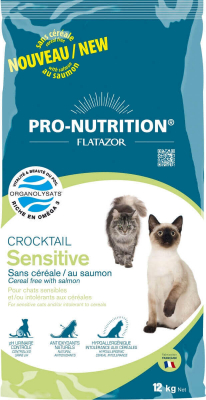 Flatazor Crocktail Chat Sensitive - Sans céréales et au saumon