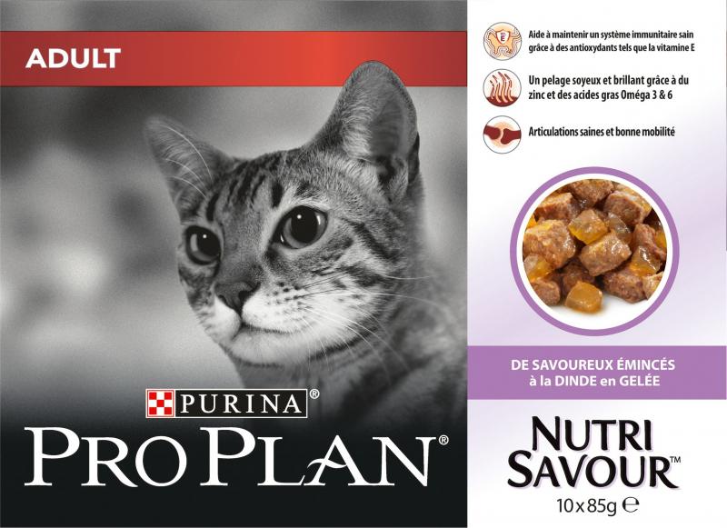 PRO PLAN Adult Pâtée à la dinde en gelée pour chat