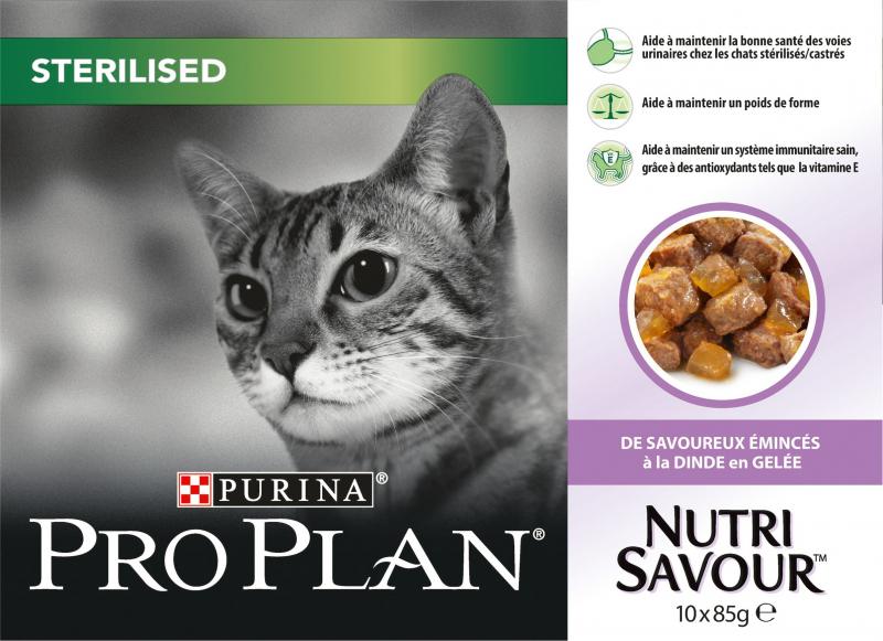 PRO PLAN Sterilised gelée pour chat stérilisé - 3 saveurs