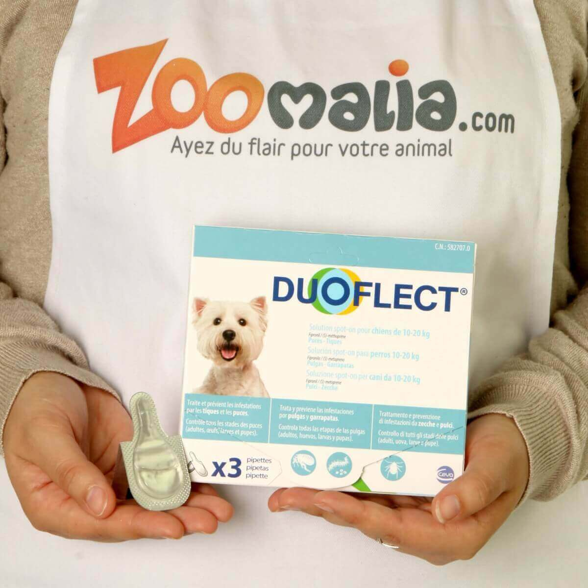 DUOFLECT Pipettes antiparasites pour chien _4