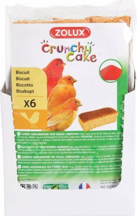 Biscuits Crunchy Cake pour oiseaux