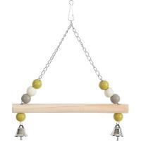 Balançoire bois chaîne en métal