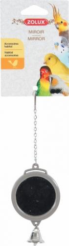Jouet à suspendre miroir rond avec clochette, coloris assortis
