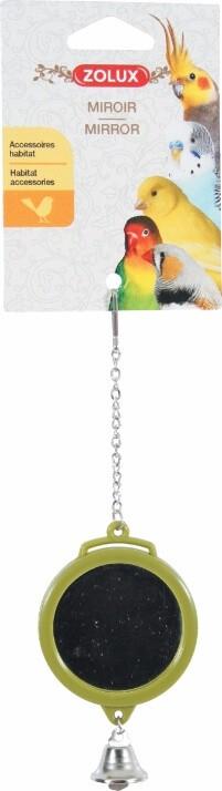 Jouet à suspendre miroir rond avec clochette, coloris assortis_2