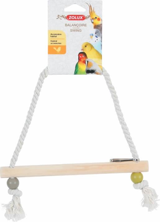 balan oire corde perchoir bois coloris assortis accessoires pour oiseaux. Black Bedroom Furniture Sets. Home Design Ideas