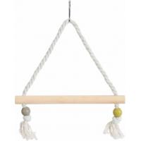 Balançoire corde perchoir bois, coloris assortis