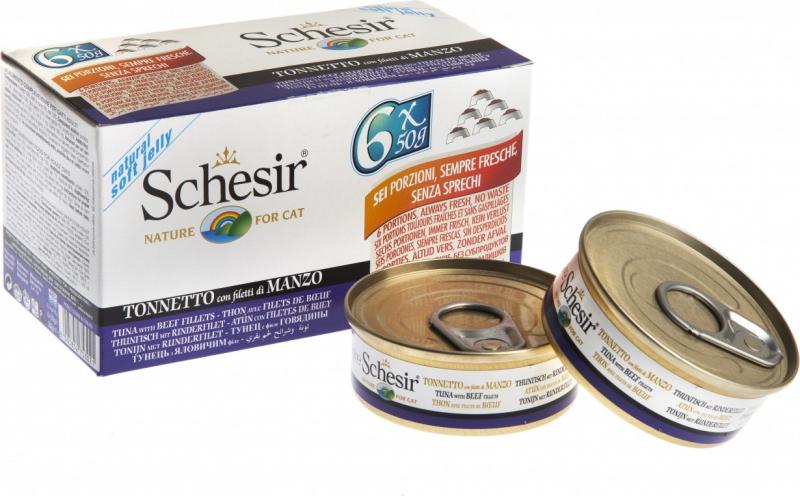SHESIR Multipack de Pâtées Naturelles pour Chat Adulte 6x50g - 9 Saveurs au Choix