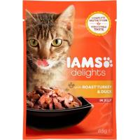 IAMS Saquetas frescas Delights em molho ou em geleia 85g para Gatos Adultos - 4 Sabores à escolha