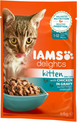 Sachet Fraicheur Iams chaton DELIGHT kitten au poulet