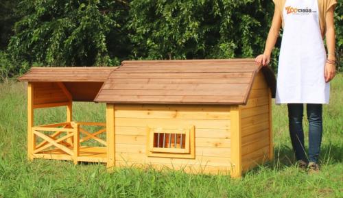 Niche pour chien avec terrasse couverte ZOLIA TIMEO_7