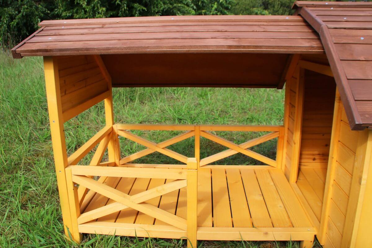 Niche pour chien avec terrasse couverte ZOLIA TIMEO_2