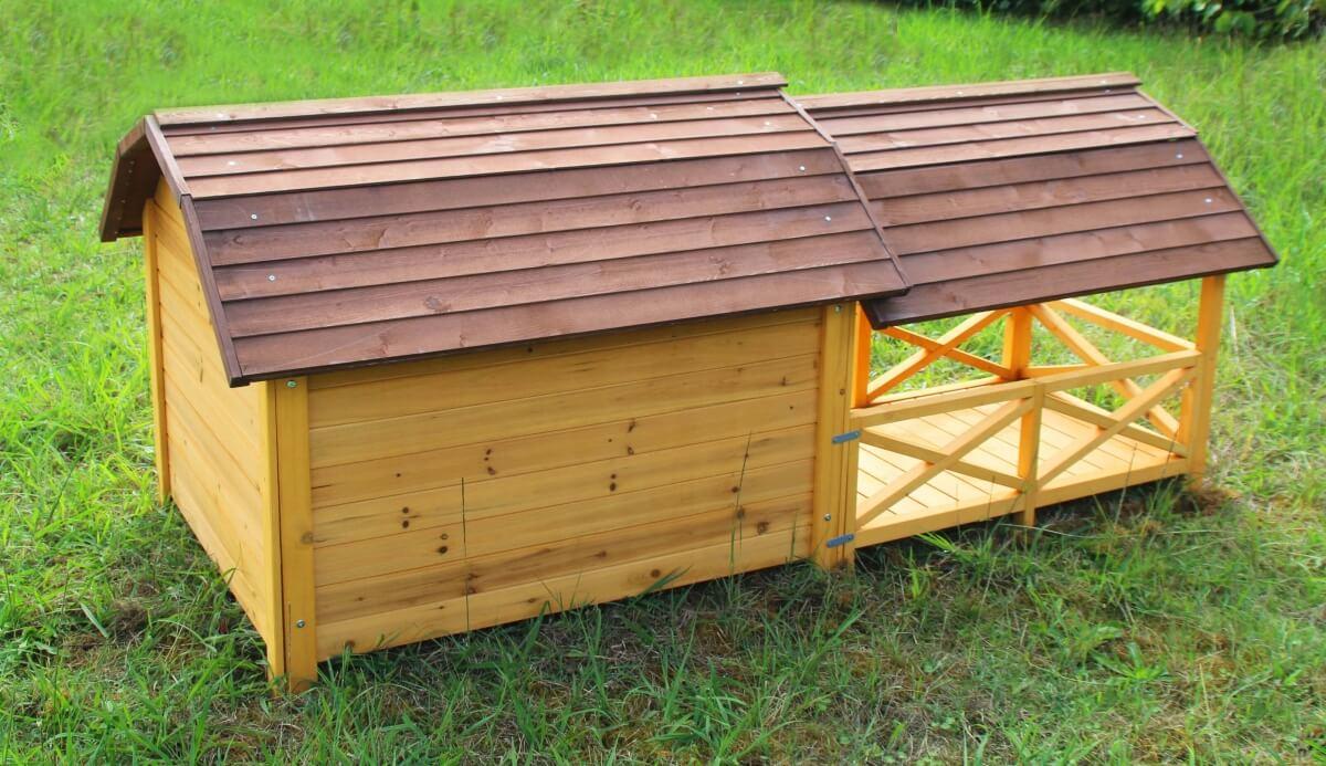 Niche pour chien avec terrasse couverte ZOLIA TIMEO_5