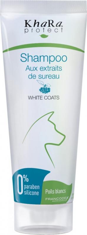 Khara Shampoing pour chien poils blancs aux extraits naturels de sureau