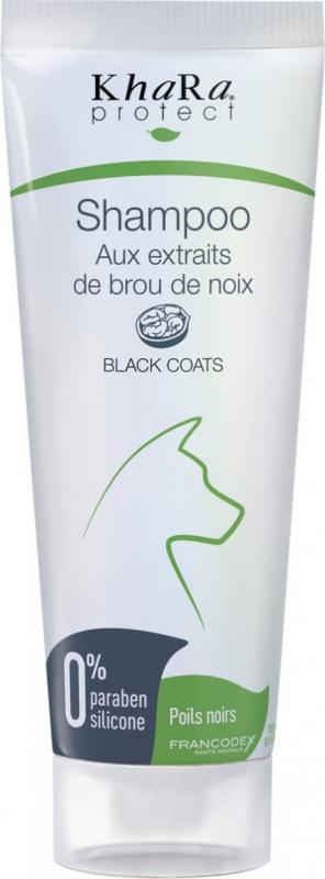 Khara Shampoing pour chiens poils noirs aux extraits de brou de noix