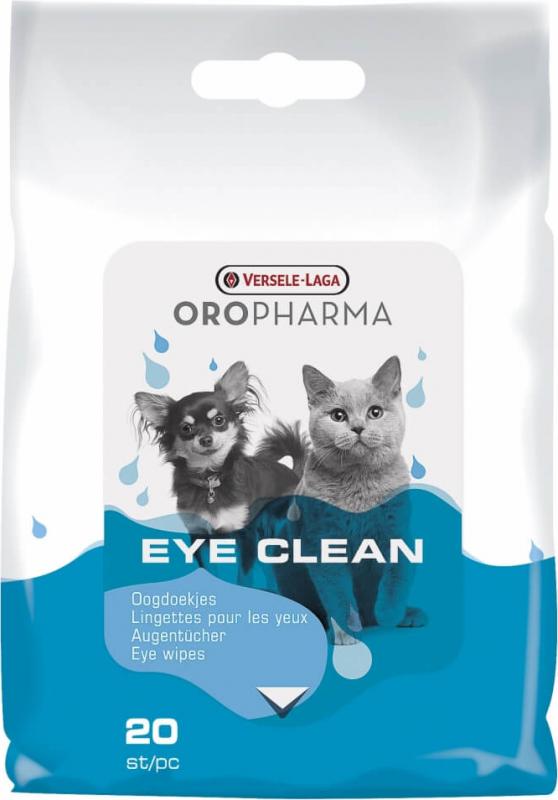 Lingettes nettoyantes pour les yeux des chiens et chats Oropharma