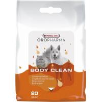 Lingettes corporelles Body Clean Oropharma pour chiens et chats