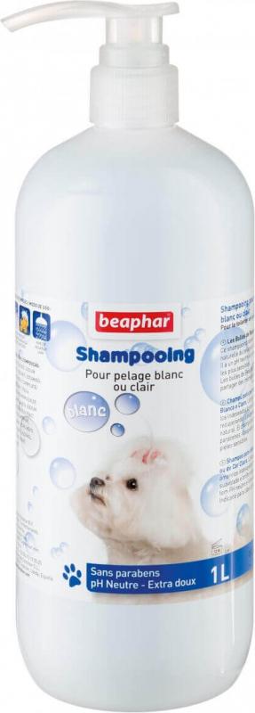 Shampoing Bulles, pelage blanc ou clair