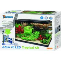 Aquariums Aqua 70 LED - Tropical Kit Blanc ou Noir (2)