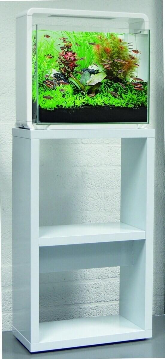 Mueble para acuario superfish home blanco acuario y for Mueble acuario