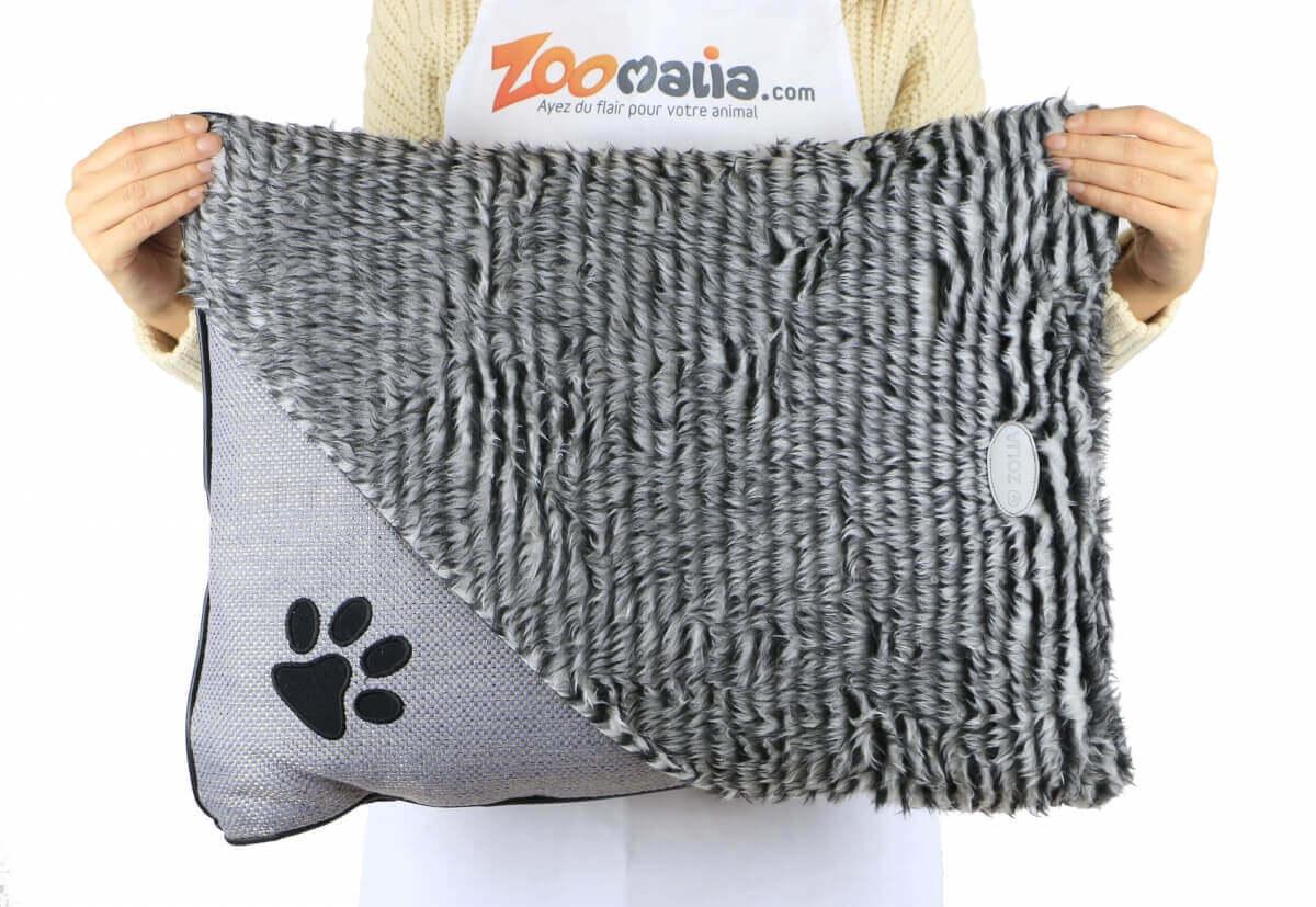 Coussin élégant ZOLIA ENZO Gris pour chien et chat_5