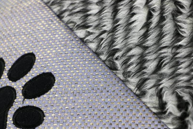 Coussin élégant ZOLIA ENZO Gris pour chien - 85cm
