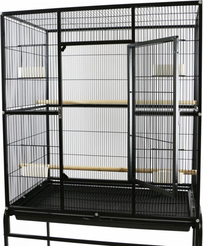 Cage ZOLIA CONURA pour perruches et petits perroquets - 150.5cm