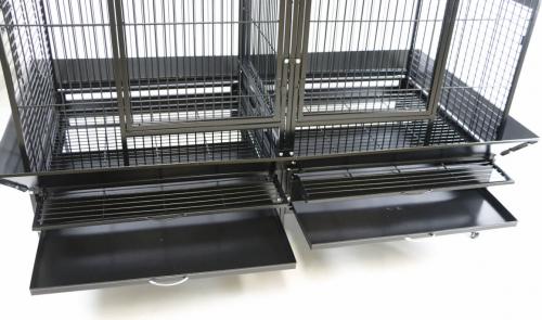 Cage double ZOLIA GABON pour grand perroquet _1