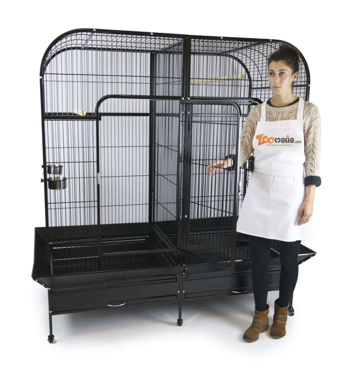 Cage double ZOLIA GABON pour grand perroquet _7