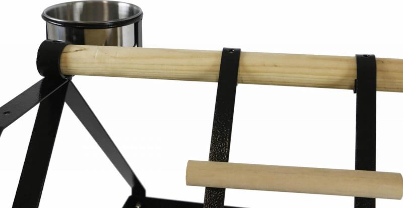 Perchoir perroquet PICOLO en fer forgé et bois